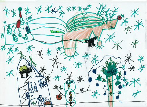 My 5yr olds Christmas Picture by HotdogandMe.