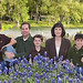 Scott, Melinda and their boys amongst the Texas bluebonnets