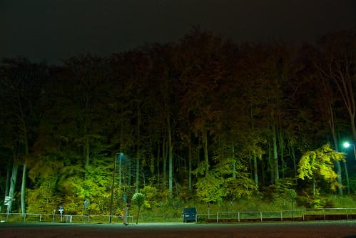 einsamer Parkplatz