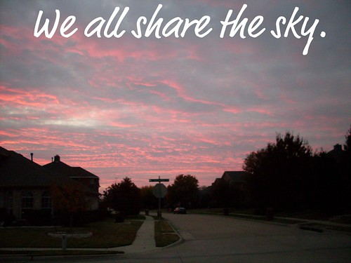 We all share the sky