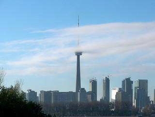 CN Tower, poking through clouds