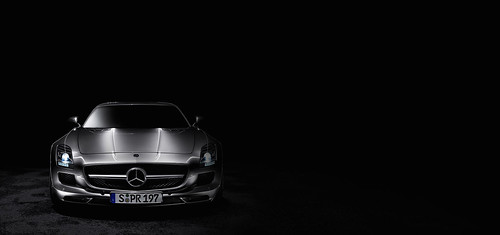 The mercedes benz sls amg front view black background a photo the mercedes benz sls amg front view black background voltagebd Image collections
