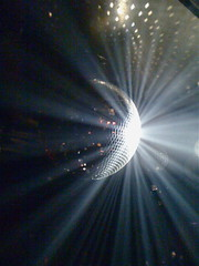 disco 2000 (redjoe) Tags: nyc newyorkcity light music reflection club night mirror dance downtown raw dj manhattan candid cielo discoball meatpacking iphone redjoe damienlazarus joehorvath