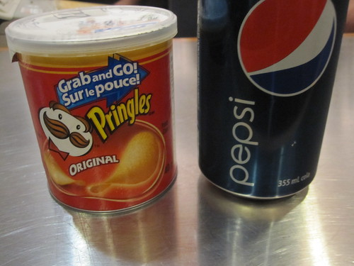 Pringles and a Pepsi at Monument National - 5$