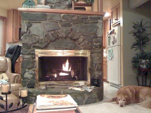 I made a fire!