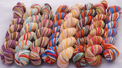 """Lineage of David"" Dye-Ends on BFL 9 oz-   (...a time to dye)"