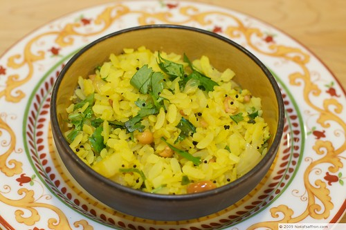 Poha (Spiced Flattened Rice)