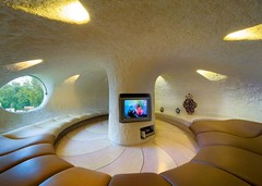 tv room (Taya of the Caravan) Tags: sculpture house color architecture colorful artist curves creative shell shape brilliant inspiring nautilus architectura innovative