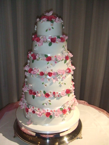 Rose 6 tier wedding cake. www.cakechester.co.uk - a photo on ...