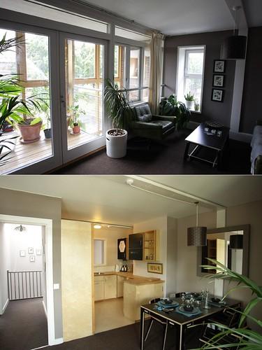 社區的標準三房住宅單元內部空間。