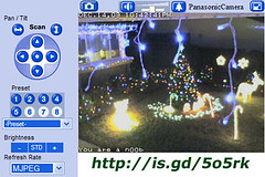 Christmas Light Cam is now live (slworking2) Tags: christmas camera xmas lights webcam view display live cam