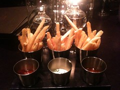 Duck fat French Fries. 3 styles, 3 sauces