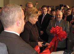 Secretary of State Hillary Clinton at Ribbon Cutting in APhA Lobby