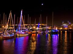 Scarborough Harbour (David.Stewart) Tags: lighting longexposure sea photoshop canon reflections landscape boat raw colours harbour yorkshire tripod north scarborough southside 1855mm yachts dslr 2009 efs cs3 1000d