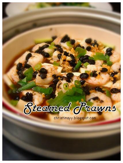 Steamed Prawn & Tofu with Black Bean