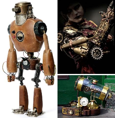 steampunk gadget dan robot