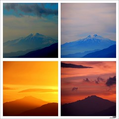 Etna Volcano  - Happy New Year to You All (Osvaldo_Zoom) Tags: morning light sunset italy landscape four volcano sicily etna calabria volcan mywindow noponte messinastrait