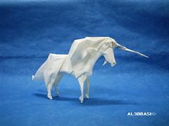 Unicorn (Al3bbasi.) Tags: horse origami fantasy unicorn mythical romandiaz al3bbasi