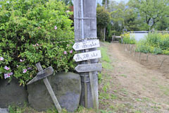 鳥沢にある小さな標識