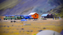 Landmannalaugar - Iceland (a.penny) Tags: camping camp baby bus lensbaby lens island miniature laugavegur nikon north cottage fake shift tent atlantic campground tilt campingplatz d300 tiltshift tilty apenny tiltshift12