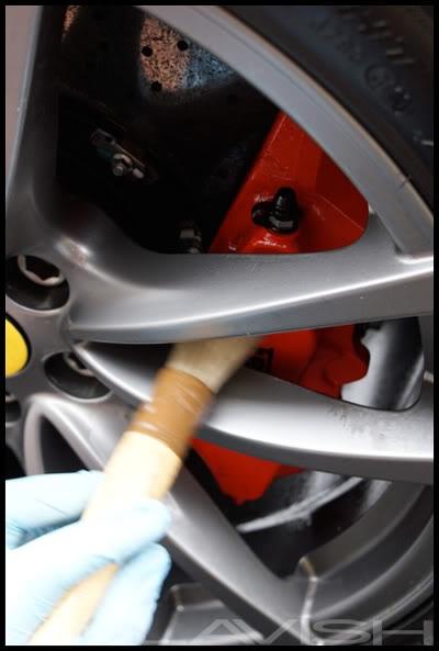 cleaning ferrari brakes
