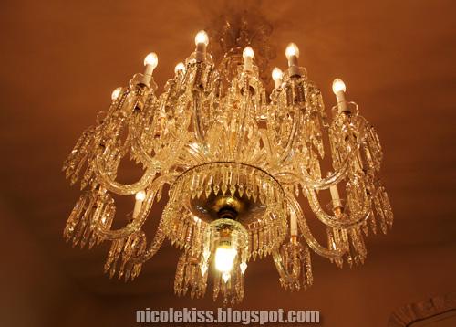 chandelier in Casa MilÃ
