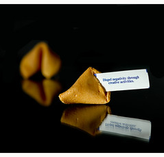 161/365 (06.10.2011): 2nd Fortune for the 365 project (jbone66 (Jay B)) Tags: black reflection canon dessert cookie sweet fortune photoaday 365 project365 june2011 mostly365