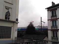Rail invader (THEfunkyman) Tags: paris streetart art rue space invader pa1261 batman
