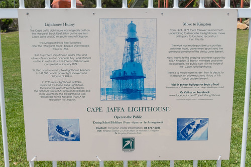 Cape Jaffa Lighthouse Sign