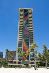 Hilton Hawaiian Village Rainbow Tower (Madbuster75) Tags: beach hawaii hotel waikiki oahu hilton rainbowtower