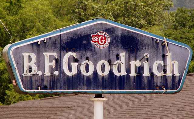 Old B.F.Goodrich neon sign