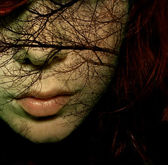 All the trees are hers (not hims but hers) (red_head_shan) Tags: red irish woman tree photoshop hair nose ginger ranger head scottish fair lips ring redhead fave lotr fantasy nosering freckles celtic redhair celt ent rosy redhairandfreckles