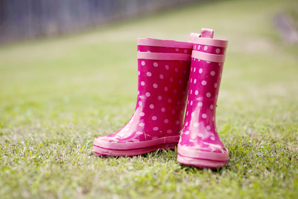 The Much Loved Spotted Pink Gumboots