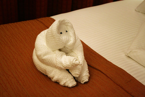 Monkeyish Towel Animal (Cabin 1101, Carnival Splendor)