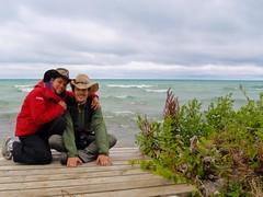 nat et Nico au Lac Huron