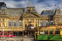 The Princess Theatre  Melbourne  Victoria (WilliamBullimore) Tags: architecture good au tram australia melbourne victoria motionblur hdr hdri princesstheatre springstreet jerseyboys melbournetram digitalcameraclub estremit atomicaward
