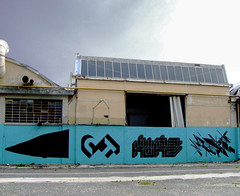 108, CT, Kurz, Graphic Surgery. Torino 2009 (108 is NIHIL) Tags: street white abstract black art abandoned public wall painting landscape torino graffiti mono experimental industrial factory post graphic ct minimal surgery chrome lettering nero 108 grafic kurz fabbrica chromo monocromatico abbandonata