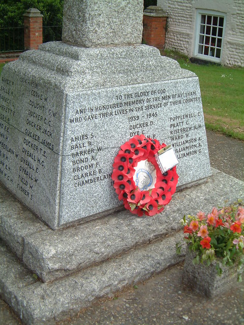 Aylsham War Memorial - WW11 and Korea