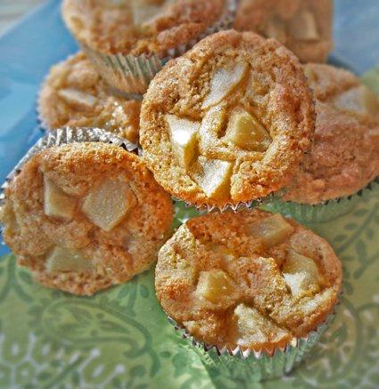 Pear Polenta Muffins- gluten-free recipe