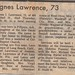 Agnes Irene Jones Lawrence Obit