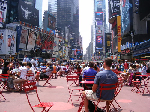 A pedestrianized Times Square in New York ca. 2009. Image from Sean_Marshall on Flickr.