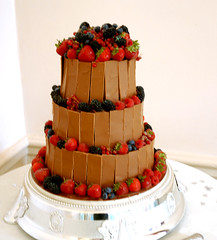 chocolate wedding cake (DGH Chocolatier) Tags: wedding cake strawberry blackberry chocolate divine raspberry cocoa dghchocolatier wwwcoeurdexocolatcouk