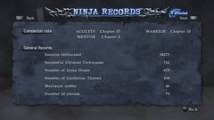 Ninja Gaiden Sigma 2 Records Screenshot 1