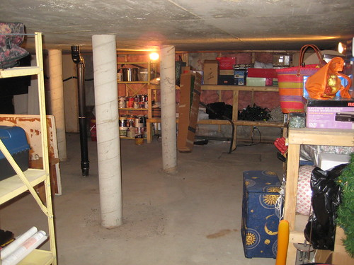 Huge space under the garage.