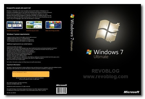 Cover Windows 7 Ultimate Retail