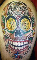 My New Tattoo (Roger Medina) Tags: tattoo de dead los day dia muertos texmex dayofthedeaddiadelosmuertos dancingdragontattoo