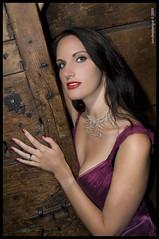 rebecca 5 ([Sundeep]) Tags: door london fashion wooden model glamour nikon dress purple rebecca makeup sensual bust sundeep d90 sultrylook sundeeptengur tengur
