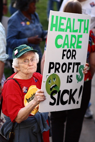 From flickr.com: Health care reform proponent {MID-144554}