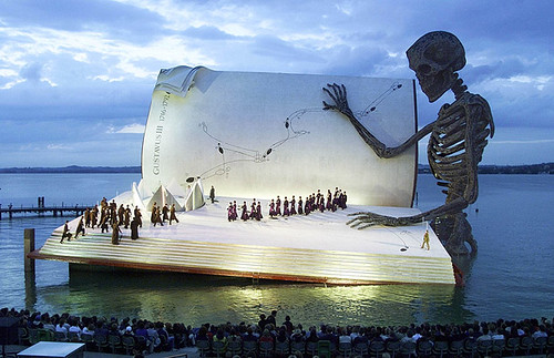 The floating stage on Lake Constance in Bregenz