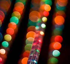 Abstract LED Lights & Bokeh for 24/7 Bokeh Life (Komatoes) Tags: life blue red orange abstract green 50mm lights for nikon bokeh led explore f18 134 ropelight 247 d40 avforums bokehballs 247bokehlife ledlightsandbokeh bokehlightballs